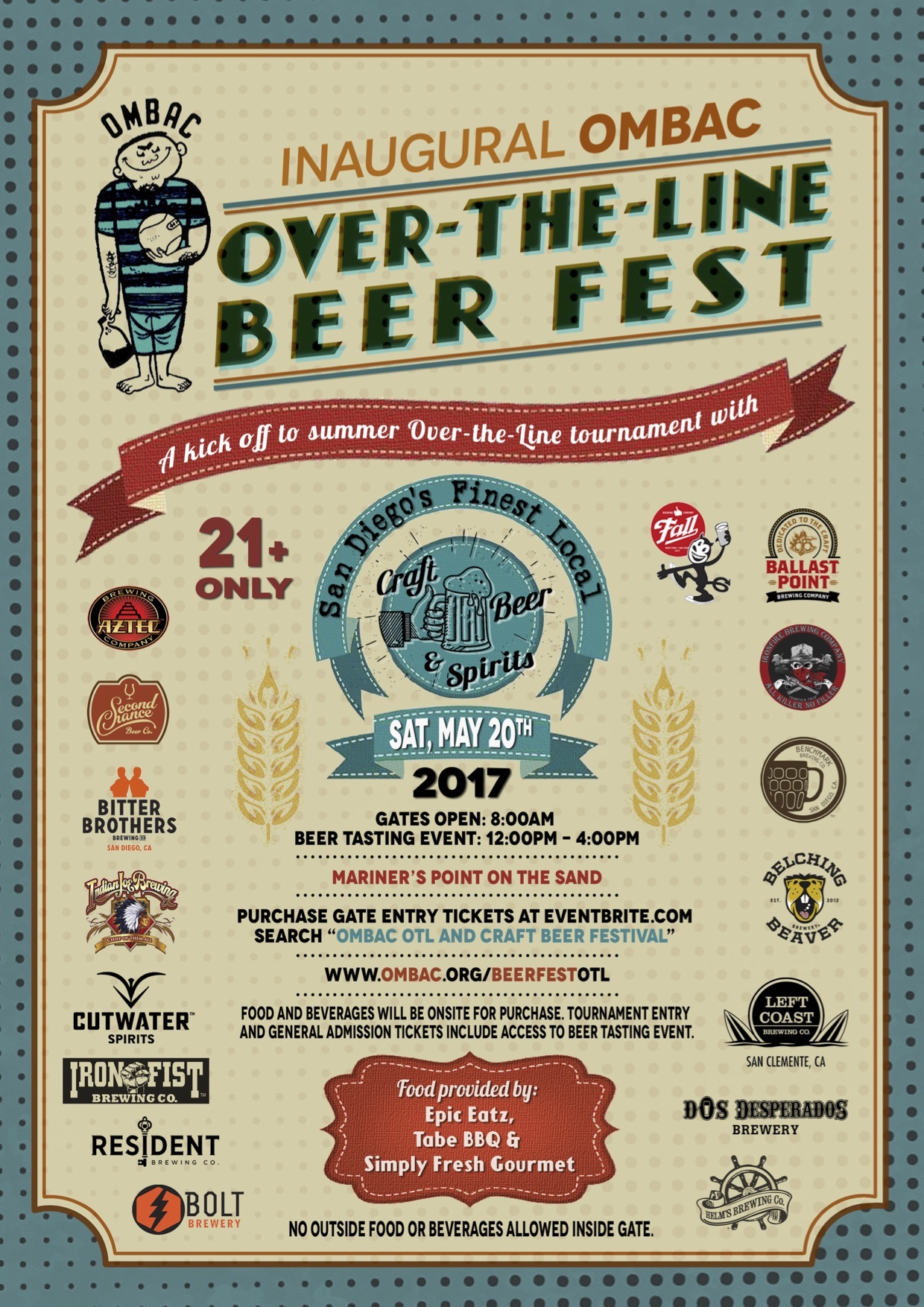 Over the line, san diego, OMBAC, Craft beer Fest