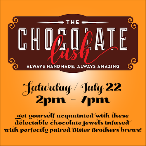 Chocolate Lush Beer Pairing, Bitter Brothers Brewing